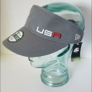 New Era Golf Tall Visor Hat USA Ryder 2016